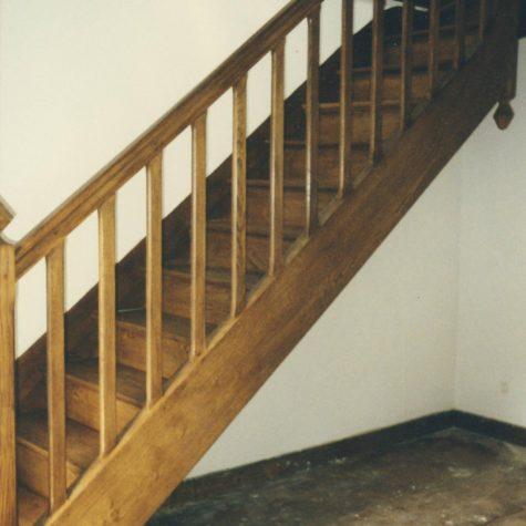 escalier chêne teinte