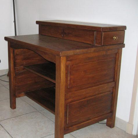 meuble informatique en frêne