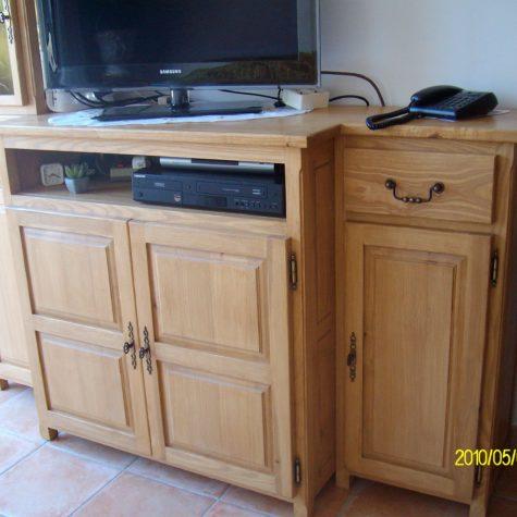 meuble télé frêne sur mesure