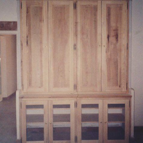 façade placard portes battante en frêne