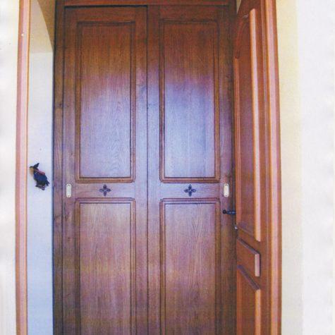 façade placard portes coulissante en chêne