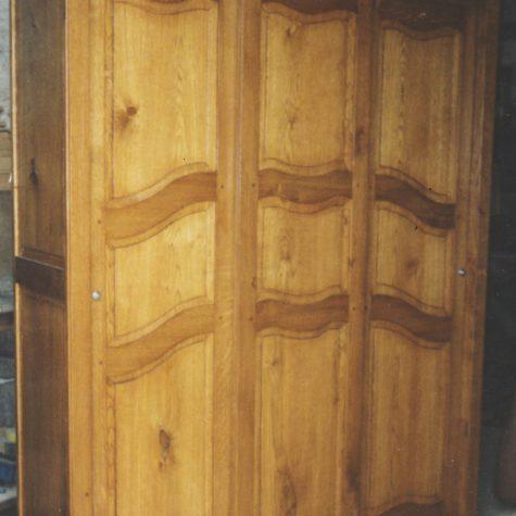 armoire sur mesure chêne portes coulissante