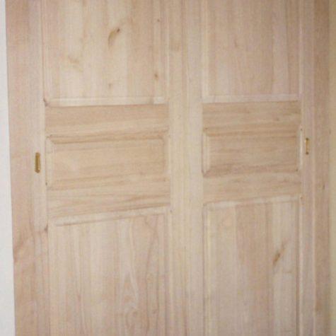 façade placard portes coulissante en châtaigner