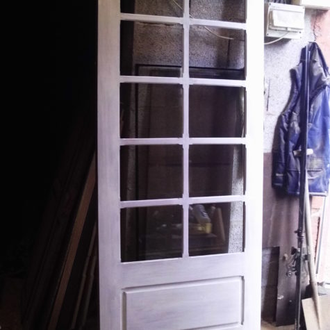 fabrication d une porte d entree en iroko avec dv securite